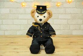 ダッフィーSサイズ用 警察官儀礼服衣装と帽子のセット  ぬいぐるみ付き オリジナル ハンドメイド ウェルカムベア 結婚祝い ウェディングドレス タキシード Sサイズ コスチューム ダッフィー グッズ