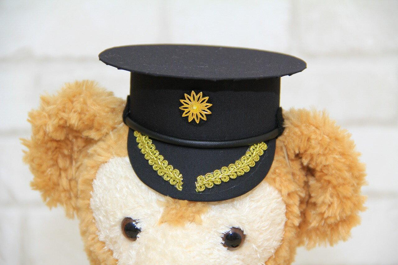 警察官帽子の手作りキット【送料無料】オリジナル ハンドメイド ウェルカムベア 結婚祝い ウェディングドレス タキシード Sサイズ コスチューム ダッフィー グッズ 制服
