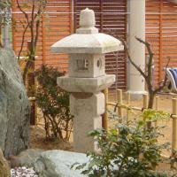 【送料無料】【代引不可】織部灯篭3尺(錆び色)坪庭などに最適の灯篭です♪