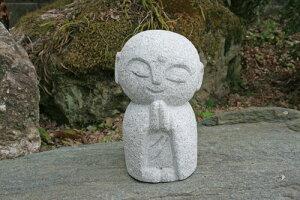 【送料無料】【地蔵】【お地蔵さん】【小】御影石で出来たにっこり地蔵です