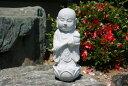 【送料無料】蓮にのったお地蔵様御影石で出来たお地蔵様です高さ 約35cm