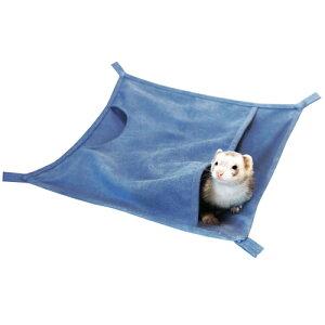 キャンバスワイドモック:ブルー / フェレット ハンモック 冬用 大きいサイズ