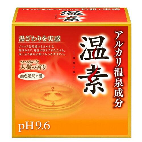 アルカリ湯質 アース製薬 / 温素 つつみこむ大樹の香り 30g x 15包入り【医薬部外品】