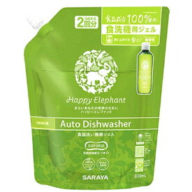 ハッピーエレファント 食器洗い機用ジェル 詰め替え 800ml / サラヤ