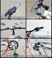 【送料無料】クロスバイク(全7色)26インチシマノ製6段ギア可動式ステムスタンド付きアルミフレームメンズレディース街乗り運動サイクリング通学自転車26インチインスタ映えおしゃれ自転車レトロ☆