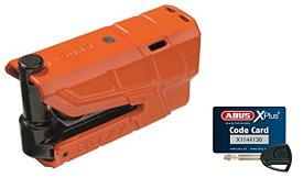 ABUS(アブス) バイク用ディスクロック オレンジ グラニットディテクトXプラス8077 (8077 Granit Detecto X-Plus)