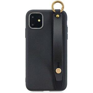 即納 iPhone 11/11Pro/11ProMax OXA ケース シリコン ハンドストラップ付き/ブラック Qi充電 ワイヤレス充電 アイフォン スマホケース 正規品