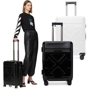 即納 OFF-WHITE オフホワイト アロー トロリー キャリーオン スーツケース トラベルバッグ キャリーケース 旅行鞄 メンズ レディース 海外直輸入 正規品