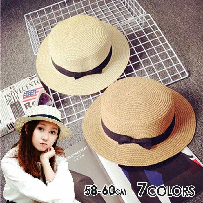 帽子 UV リボン 麦わら帽子 UVカット 帽子 つば広 日よけ 紫外線対策 ハット 無地 大人 ナチュラル レディース 春 夏