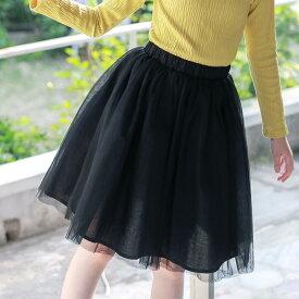 ガールズ チュール スカート ボトムズ 女の子 子供 スカート 森ガール キッズ 子供服 通学 小学生 キッズ ジュニア レーススカート フレアスカート 120cm 130cm 140cm 150cm 160cm