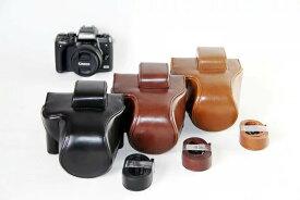CANON EOS M5 ケース EOSM5 カメラケース カバー カメラーカバー バック カメラバック レザーケース デジカメ キャノン 一眼レフ 三脚使用可能 ネジ穴装備 ストラップ 送料無料 メール便