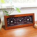テーブル&ウォールクロック (温湿度計付) ロゴ・名入れの温度計&湿度計&時計【ラッキーシール対応】