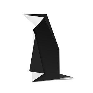 【名入れ】オリハガキ ペンギン メッセージ印刷込