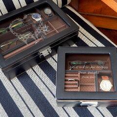 【送料無料】【名入れ】男性へ贈る名前入りの男の宝箱 メンズボックス L 誕生日プレゼント 彼氏 父の日