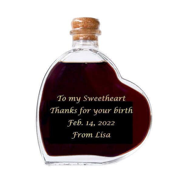 【名入れ】スウィートワイン 名入れハート型ワイン 二人で過ごす時間にとびっきりのプレゼント