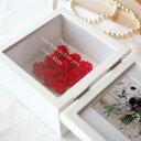 【送料無料】【名入れ】ずっと美しい赤いバラと、ガラスに刻んだメッセージを贈る プリザーブドフラワー スクエアフレーム レッド プリ…