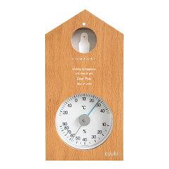 【送料無料】【名入れ】メッセージが入る ハト温湿度計 ナチュラル 名入れの贈り物
