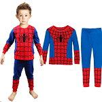 新入荷!子供スパイダーマン長袖Tシャツロングパンツセット男の子子ども上下セットパジャマ寝巻き