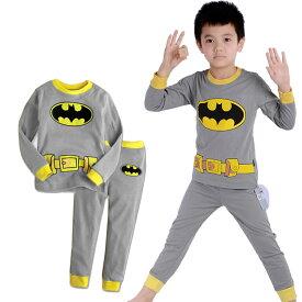 e04e4b42565c94 在庫処分 子供 バットマン 長袖Tシャツ ロングパンツセット 男の子 子ども 上下セット パジャマ 寝
