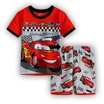 新入荷!綿100%車CAR柄カーcars柄半袖Tシャツ&ハーフパンツセット♪男の子キッズ子どもパジャマ車柄赤/灰色