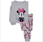 新入荷!ミニーちゃんピンク長袖Tシャツロングパンツセット女の子パジャマ子供子ども上下セット長袖パジャマ寝巻き