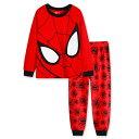 新入荷 スパイダーマン 長袖 パジャマ 上下/赤色 長袖Tシャツ&ロングパンツ セット 男の子 キッズ 子どもパジャマ スパイダーマン