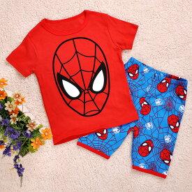 スパイダーマン 半袖Tシャツ ハーフパンツ セット 子供 男の子 パジャマ 上下セット 子ども 寝巻き♪
