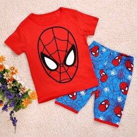 5357d0bddab927 スパイダーマン 半袖Tシャツ ハーフパンツ セット 子供 男の子 パジャマ 上下セット 子ども ...