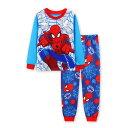 新入荷 スパイダーマン 長袖 パジャマ  水色/赤 長袖Tシャツ&ロングパンツ セット 男の子 キッズ 子どもパジャマ スパイダーマン