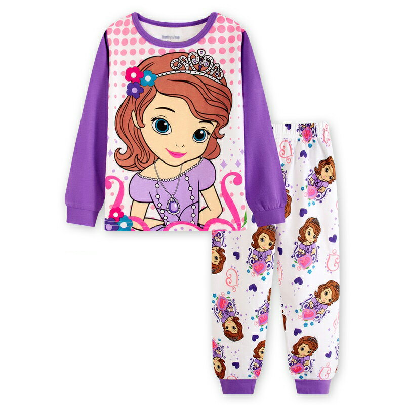 新入荷 プリンセスソフィア 長袖Tシャツ ロングパンツ パジャマ 上下セット 女の子 パジャマ 子ども 子供 キッズ パジャマ 長袖 キャラクタ パジャマ