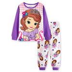 新入荷プリンセスソフィア長袖Tシャツロングパンツパジャマ上下セット女の子パジャマ子ども子供キッズパジャマ長袖キャラクタパジャマ