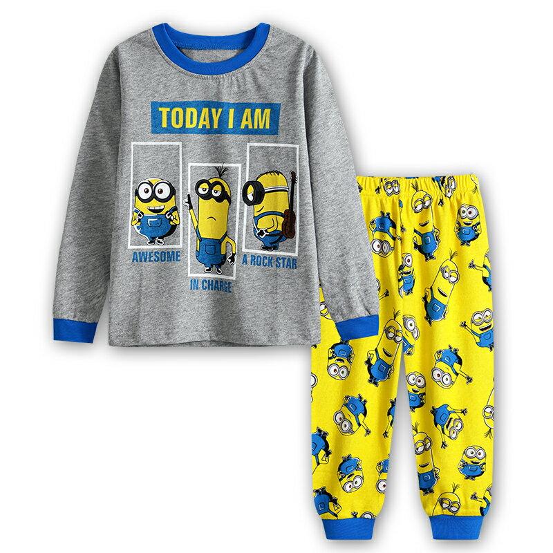 新入荷 キャラクター ミニオンズ パジャマ 長袖Tシャツ&ロングパンツ セット 男の子 キッズ 子どもパジャマ 子供 パジャマ 灰/黄色