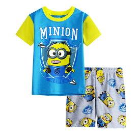新入荷 キャラクター ミニオンズ 綿100% パジャマ 半袖Tシャツ&ショットパンツ セット 女の子 男の子 キッズ 子どもパジャマ 子供 パジャマ 水色