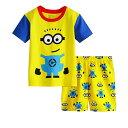 新入荷 キャラクター ミニオンズ 綿100% パジャマ 半袖Tシャツ&ショットパンツ セット 女の子 男の子 キッ…