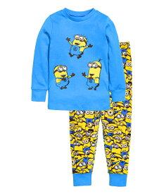 新入荷 キャラクター ミニオンズ パジャマ 長袖Tシャツ&ロングパンツ セット 男の子 キッズ 子どもパジャマ 子供 パジャマ 水色・黄色色