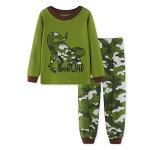恐竜柄パジャマ綿100%きょうりゅう柄長袖Tシャツロングパンツセット男の子パジャマ子ども子供キッズパジャマ長袖寝巻き90cm95cm100cm110cm120cm130cm