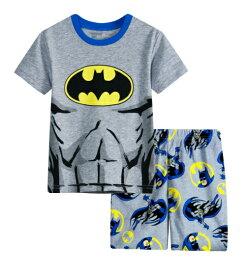62fe58c6548742 子供 バットマン パジャマ 半袖Tシャツ&ハーフパンツセット 男の子 子ども 上下セット パジャマ 寝