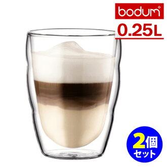 Bodum Bodum Pilatus double wall glass ( 0.25 L x 2 customer enters ) fs3gm