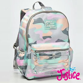 Justice パステル&カモフラージュバックパック JUSTICE Pastel Camo Backpackアメリカンガールズ御用達