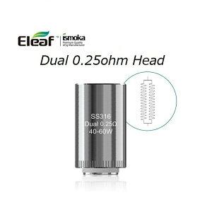 【メール便で送料無料】Eleaf LYCHE Atomizer用 SS316 Dual 0.25ohm Atomizer Head 5pcs VAPE