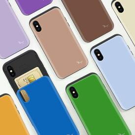 iphone 11 ケース iphone8 ケース アイフォンxrケース iphone xs TPU バンパー Bumper 耐衝撃 カード入れ マット加工 スマホケース カード 背面 擦り傷防止 Breeze
