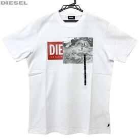 DIESEL ディーゼル 新品 半袖 Tシャツ 丸首 00SIEW 0091A 100 白 サイズS M L XL XXL クリックポスト送料無料