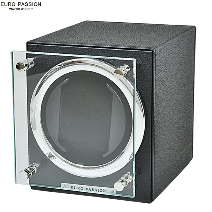 【あす楽】 EURO PASSION ユーロパッション FWC-1119LBK ウォッチワインディング ボックス 1本巻き アダプター付 ウォッチワインダー ブラック 【調整】【並行輸入】【新品】【腕時計】【メンズ】