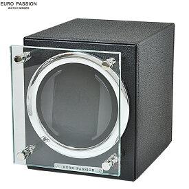 EURO PASSION ユーロパッション 新品 あす楽 FWC-1119LBK ウォッチワインディング ボックス 1本巻き アダプター付 ウォッチワインダー ブラック 【調整】【新品】【腕時計】【メンズ】