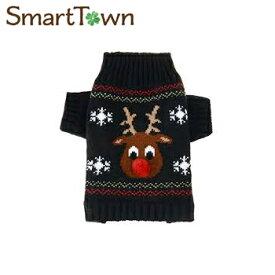 Austrake 犬の服 クリスマス トナカイ セーター 秋冬服 ドッグウェア XL