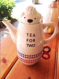 かわいいティーフォーツー プードル ポット&カップセット シンジカトウ デザイン Shinzi Katoh Design Poodle Tea For Two Tea pot and cup set
