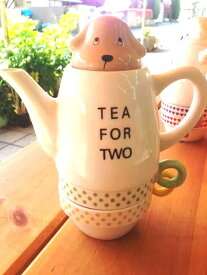 かわいいティーフォーツー ミニチュア ダックス ポット&カップセット シンジカトウ デザイン Shinzi Katoh Design miniature Dachshund Tea For Two Tea pot and cup set