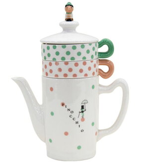 Pinocchio pretty tea four two teapot & cup set Shinji Kato pinocchio Tea For Two Tea pot and cup set