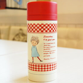 Someday 赤チェック ステンレスマグボトル 350mlタイプ 水筒 携帯魔法びん シンジカトウ someday red check stainress mug bottle Shinzi Katoh design【宅配便のみ】