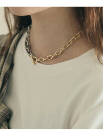 [Rakuten Fashion]コンビメタルショートネックレス SMELLY スメリー アクセサリー ネックレス ゴールド